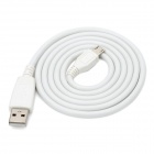 V8 Micro USB Male to USB Male Data Transmission / Charging Cable - White (110cm)