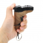Creative Boot Style Windproof Butane Jet Lighter w/ Keychain / LED - Blue + Brown