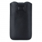 Protective PU Leather Pouch Case for Samsung N7100 - Black