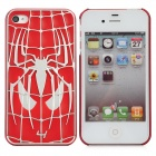 Spider-Man Pattern Protective Plastic Back Case for iPhone 4 / 4S - Red