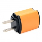 BISIT Universal AC Power Adapter Charger w/ USB Output for Cell Phones - Orange (2-Flat-Pin Plug)