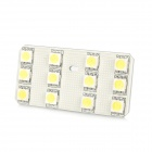 Dianzi DZ-9W T10 1.8W 207lm 12-SMD 5050 LED White Light Car Leselampe (12 ~ 16V)