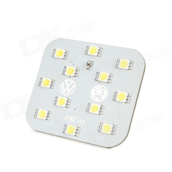 DianZi DZ-12W T10 2.4W 276lm 12-SMD 5050 LED White Light Car Reading Lamp (12V) lx 3w 250lm 6500k white light 5050 smd led car reading lamp w lens electrodeless input 12 13 6v