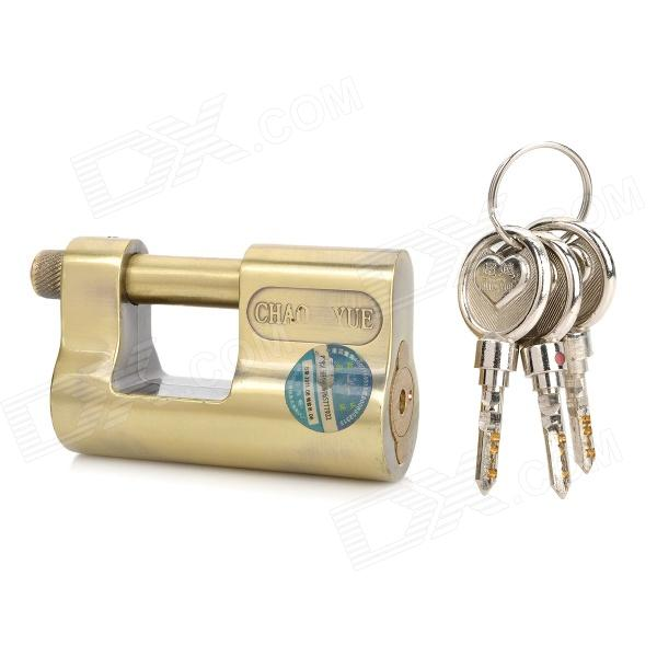 Quality DIY Stainless Steel Electric Cabinet Lock / Padlock w/ 3 Keys - Golden