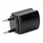 BISIT Universal AC Power Adapter Charger w/ USB Output for Cell Phones - Black (2-Round-Pin Plug)
