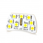 DianZi T10 2W 180lm 9-SMD 5050 LED Warm White Light Car Reading Lamp (12V)