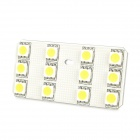 Dianzi DZ-9NW T10 1.8W 207lm 12-SMD 5050 LED Warm White Light Car Leselampe (12V)