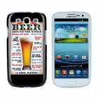 Beer Style Protective Plastic Back Case for Samsung Galaxy S3 i9300 - Black + Golden + White
