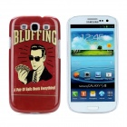 Bluffing Poker Man Style Protective Plastic Back Case for Samsung Galaxy S3 i9300 - Dark Red