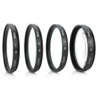 Close Up +1 / +2 / +4 / +10 Lens Filters Set - Black (46mm / 4 PCS)