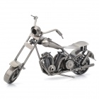 L-020 Motorcycle Style Metal Display Model Toy - Dark Grey