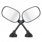 DIY Motorcycle Anti-Glare Back Rearview Mirrors for Honda VFR800 02-08 - Black (2 PCS)