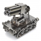 TK3 Tank Rocket Style Creative Metal Display Model - Dark Grey