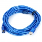 USB 2.0 Male to USB Female Extension Cable - Blue (5M)