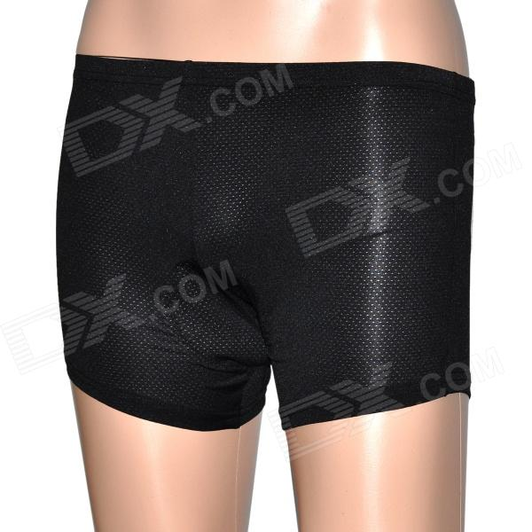 Cycling Bicycle Bike Riding Man's Underpants w/ Cushion - Black (Size L)