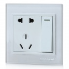 SMEONG 2-Sockel 1-Schalter Wall Power Plate - White (AC 250 V)