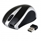 Aoni 2.4GHz 800 / 1600dpi Bluetooth 2.0 Wireless Optical Mouse - Black + Silver (1 x AAA)
