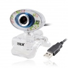 AONI HD720P Compact PC Camera USB Webcam w/ Microphone - White