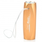 S1 Stylish Rechargeable Music Speaker MP3 Player w/ TF Card - Golden (4GB)