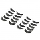 XO Water Resistant Natural Lengthen Darken Artificial Eyelashes Set - Black (10 Pairs)