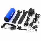 Stylish Rechargeable Music Speaker MP3 Player w/ TF Card - Blue (4GB)