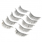 J-1 Water Resistant Lengthen Cross Artificial Eyelashes Set - Black (10 Pairs)