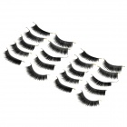022 Makeup Natural Lengthen Thicken Fake Eyelashes Set - Black (10 Pairs)