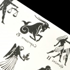 YM-K008 Fashionable Free Man Pattern Tattoo Paper Sticker - Black