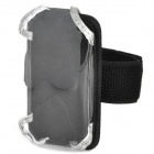 Multi-Purpose Bicycle Mobile Phone Bag w/ Holder Mount / Arm Band - Black (Size S)