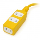 JET Triple 2-Flat-Pin Sockets Power Strip - Yellow (2-Flat-Pin Plug / AC 110~220V / 48cm-Cable)