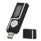 "USB Flash Drive Style 1.1"" Screen MP3 Player w/ FM - Black (2GB)"