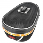 Cycling Bicycle Back Seat Hard Bag with Colorful Light Strip - Black