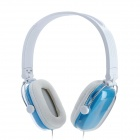 Feinier FE-902 Stereo Headphones w/ Microphone - Blue + White