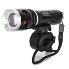 L12 Cree XP-E Q5 200lm 3-Mode White Zooming Bike Light - Black (3 x AAA)