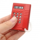 Telephone Style Plastic Windproof Butane Jet Lighter w/ LED Flashlight - Red (3 x LR41)