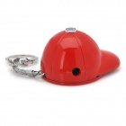 Golf Cap Style ABS Butane Lighter w/ LED Flashlight / Keychain - Red (3 x LR41)