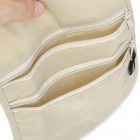 Travel Gear Hidden Pocket Passport Purse Wallet Canvas Security Shoulder Bag - Beige (Free Size)