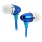Stylish In-Ear Earphone with Microphone for iPhone / HTC + More - Blue
