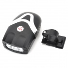 Bicycle Electronic Bell 3-LED White Light Headlight - Black