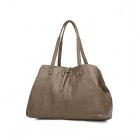Fashion PU One Shoulder Bag w/ Cell Phone / Card Pocket for Women - Brown