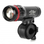L13 Cree XP-E Q5 150lm 3-Mode White Zooming Bike Light - Black (3 x AAA)