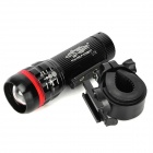 L13 150lm 3-Mode White Zooming Bike Light - Black (3 x AAA)