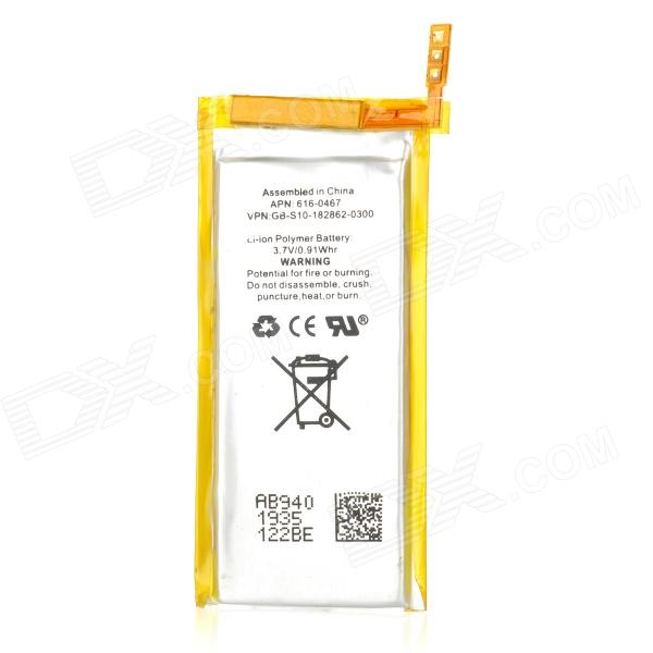 Replacement 3.7V 400mAh Li-ion Polymer Battery for Ipod Nano 5 - White + Golden cm 052535 3 7v 400 mah для видеорегистратора купить