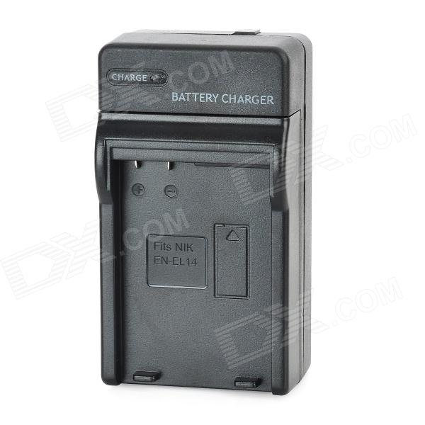EN-EL14 Battery Charging Cradle for Nikon EN-EL14 (100~240V / 2-Flat-Pin Plug) meike mk d750 battery grip pack for nikon d750 dslr camera replacement mb d16 as en el15 battery