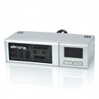 "Akasa AK-ALL-02SL All-in-One 2 Multifunction Front Control Panel for 5.25"" PC CD Device Bay - Silver"