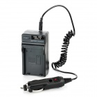 EN-EL14 Battery Charging Cradle w/ Car Charger for Nikon EN-EL14 P7100 (100~220V / 2-Flat-Pin Plug)