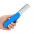 Multi-Function Folding Army Comb & Mirror - Blue