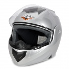 Paulo X3 Flip-Up Motorcycle Outdoor Sports Racing Helmet - Silvery Grey + Black (Size L)