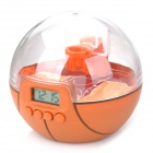 "Novelty 1"" LCD Basketball Court Digital Alarm Clock - Sandy Brown"