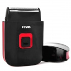 POVOS PW805 USB Powered Electric Reciprocating Dual-Blade Shaver Razor - Black